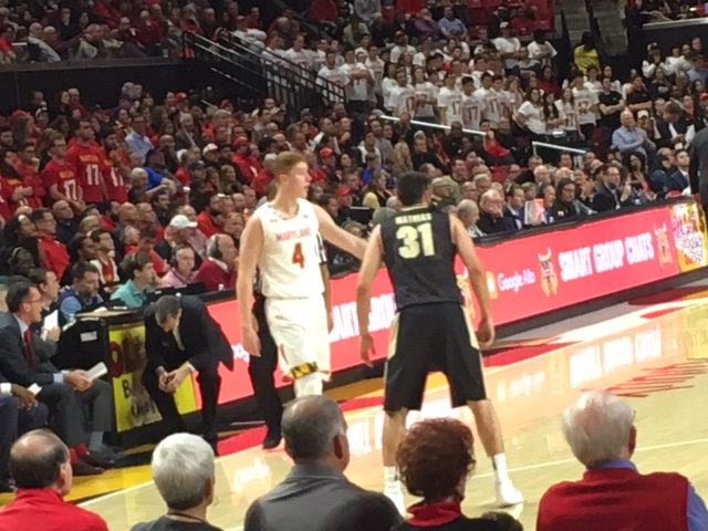 Haas and Mathias Fuel Boilermakers to Win over Terps